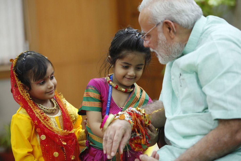 PM at Rakshabandhan event (1)